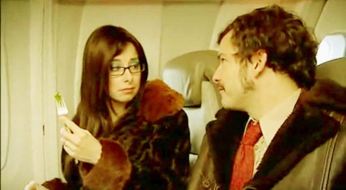 them on a plane