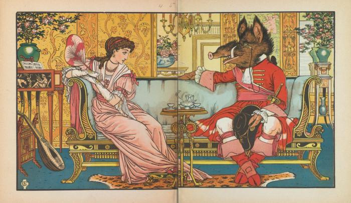 Beauty and the Beast Crane 1874 2